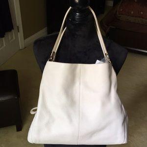 Coach Shoulder Bag Pebbled Leather